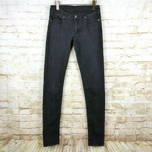 Cheap Monday Faded Black Skinny Jeans
